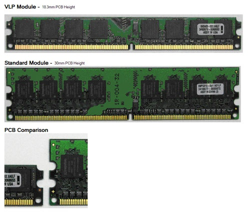 P:Kingston 2x1GB DDR2 800MHZ very low profile