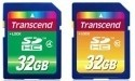Transcend Class 4 en 10 SDHC geheugenkaartjes