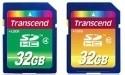 Transcend Class 4 en 10 SDHC geheugenkaartjes