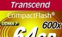 Snelle CompactFlash geheugenkaart van Transcend