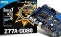 MSI lanceert Z77A-GD80 moederbord met Thunderbolt