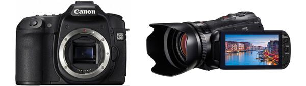 Canon 60D vs. Canon HF-G10