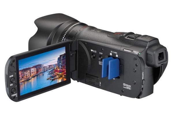 Zijkant van de Canon HF-G10