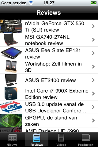 Reviews in Hardware.Info iOS app
