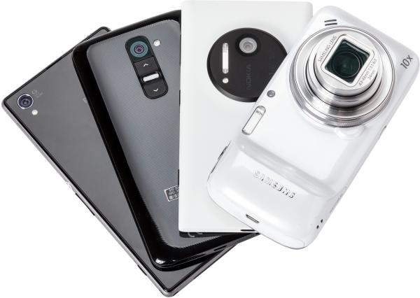 high-end camera smartphones review: doodsteek voor compactcamera?
