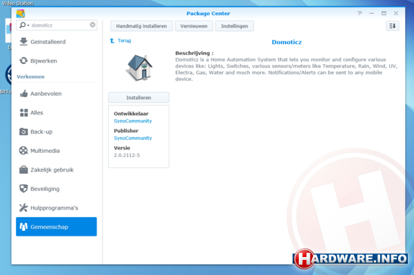Workshop Home Automation met Domoticz - Hardware Info