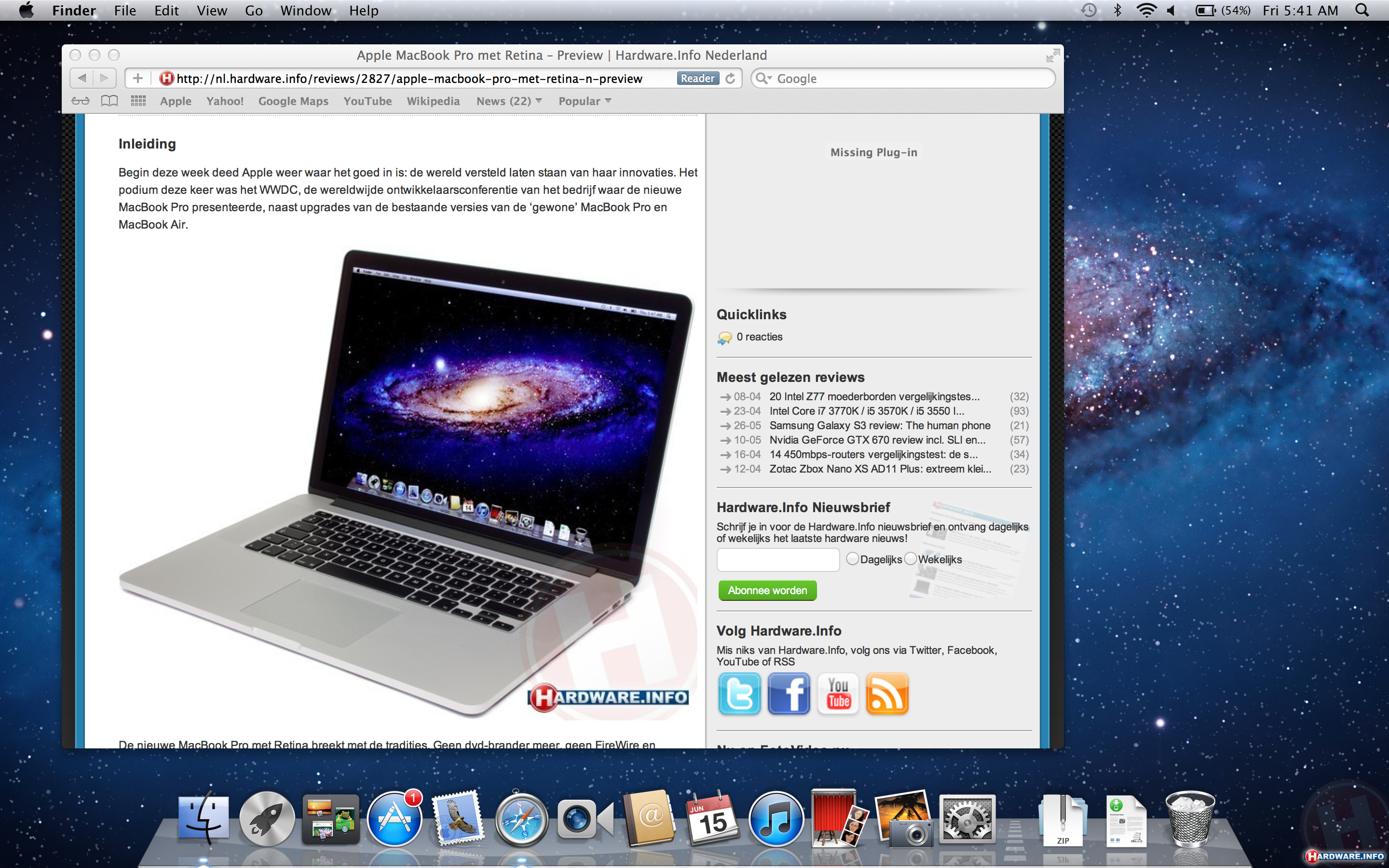 Apple macbook pro with retina display hands on preview retina display click her for full resolution ccuart Choice Image