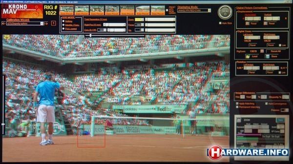 Roland Garros anaglyph 3D monitor