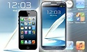 Benchmarks: Samsung Galaxy Note II versus Apple iPhone 5