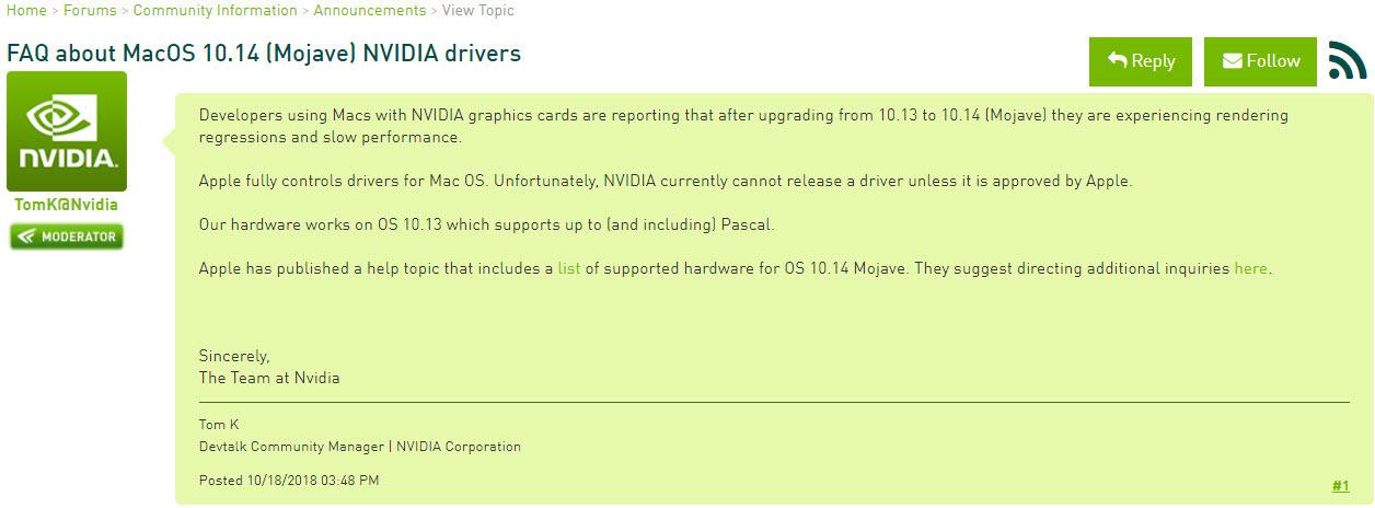Macos Nvidia Drivers