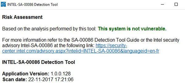 Remote attack bug in Intel CPU's - Hardware Info