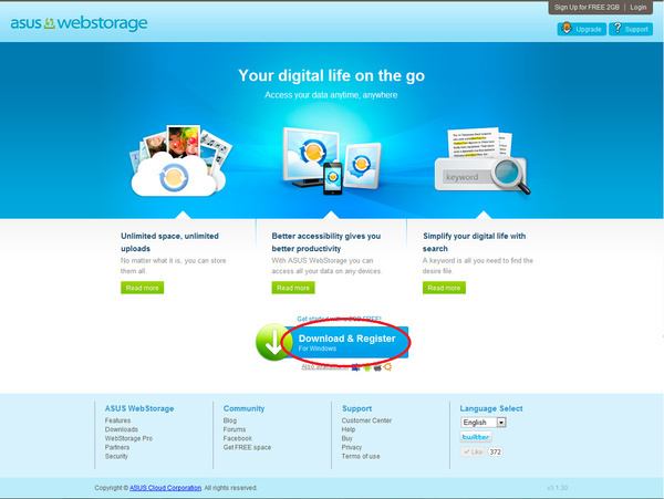 Acer webstorage