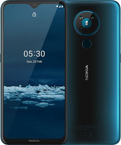 De nieuwe Nokia van voren en achteren