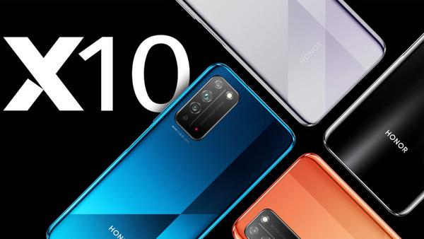 Marketingfoto van de Honor X10 smartphone