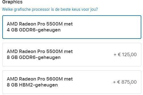 MacBook Pro 16 configuratie