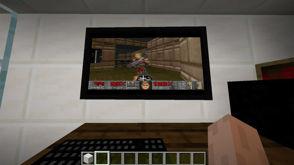 Doom draaiend in Minecraft