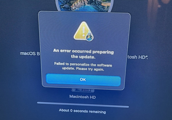 Foutmelding bij Apple M1 systemen na reservekopie