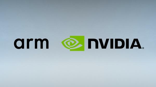 Arm en Nvidia bedrijfslogos