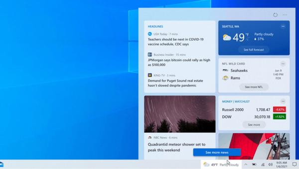 Vernieuwde taakbalk in Windows 10