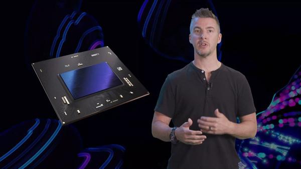 Een screenshots van de video van Intel waarin de gpu te zien is