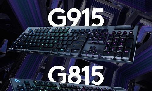 Logitech G915 Lightspeed en G815 Lightsync zijn mechanische toetsenborden voor gamers
