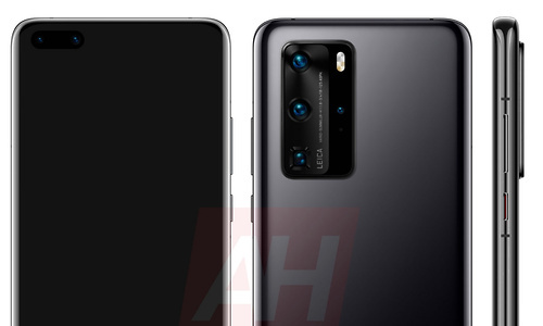 Huawei P40 Pro-renders tonen toestel van alle kanten