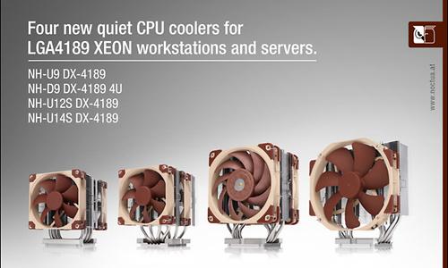 Noctua brengt vier koelers en bevestigingskit voor LGA4189 uit