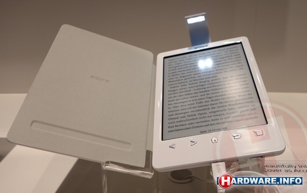 sony prs t3 e reader met licht cover