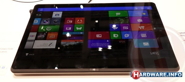 ...Sony Vaio Fit als tablet...