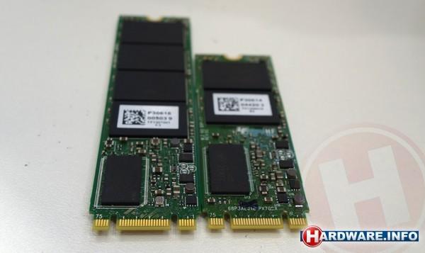 De nieuwe Plextor M.2 SSD komt er in een lengte van 80 en van 60 mm; beide zijn 22 mm breed.