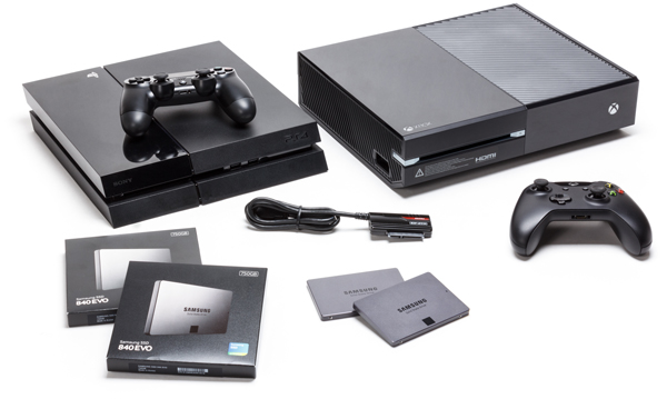 Win playstation 4 of xbox one met 750 gb samsung 840 evo ssd for Ssd esterno xbox one
