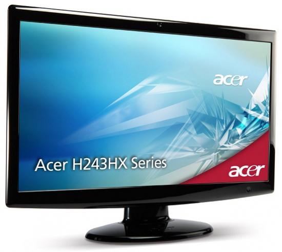 acer 24 inch full hd scherm met webcam. Black Bedroom Furniture Sets. Home Design Ideas