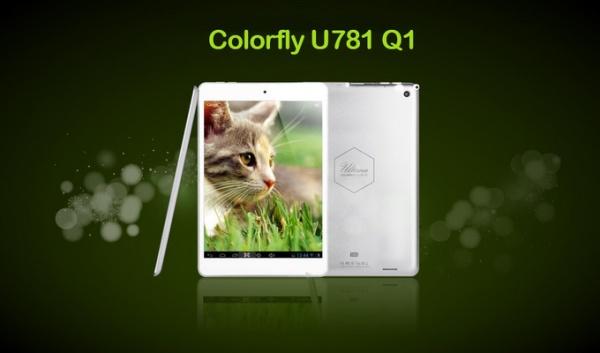 Colorful Colorfly U781 Q1 tablet slechts 6,8 millimeter dik