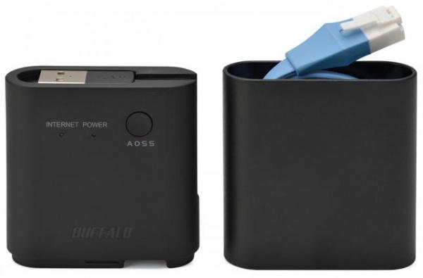 Draadloze Travel Router van Buffalo met geïntegreerde LAN