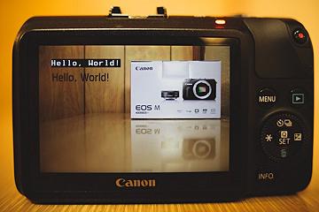 Hello World op Canon EOS M
