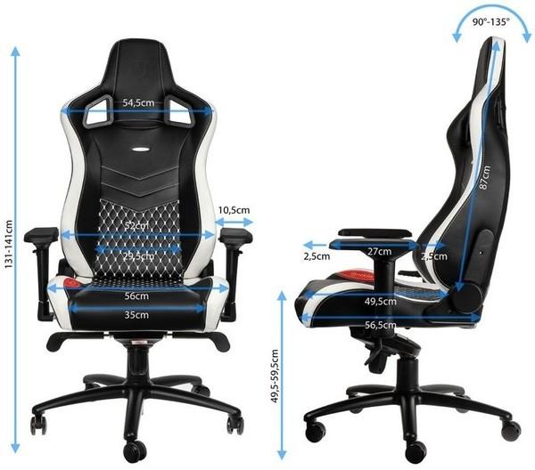 Noblechairs epic gamestoel is voorzien van echt lederen bekleding - Rots bobois stoel ...