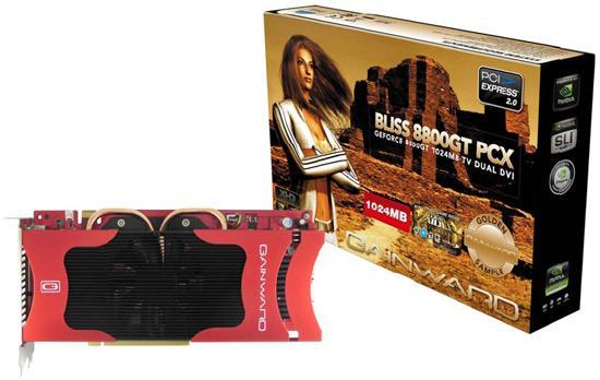 Gainward BLISS Golden Sample 1GB draait op 650/1900MHz