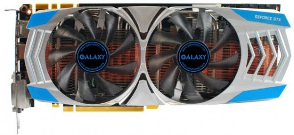 Galaxy GeForce GTX780 GC met drie gigabyte GDDR5-geheugen
