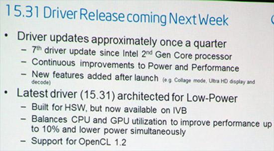 Update for integrated HD Graphics 4000 GPU: 10 percent