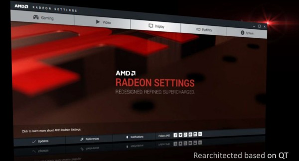 Radeon Software settings