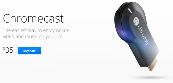Streamen naar een TV met Chromecast