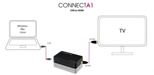 Schematische voorstelling Terratec Connect A1