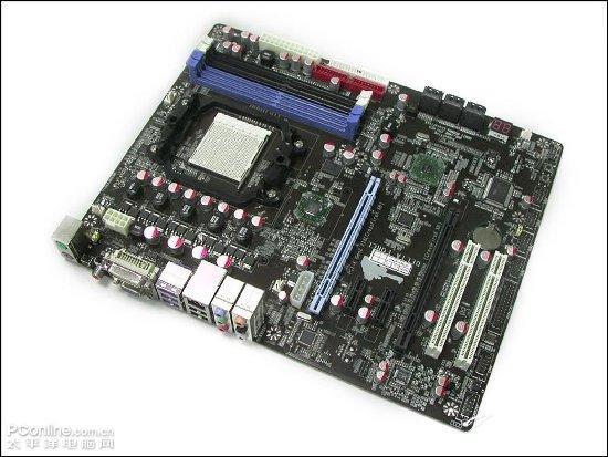 AMD 790GX moederbord met twee PCI-E 16x sloten