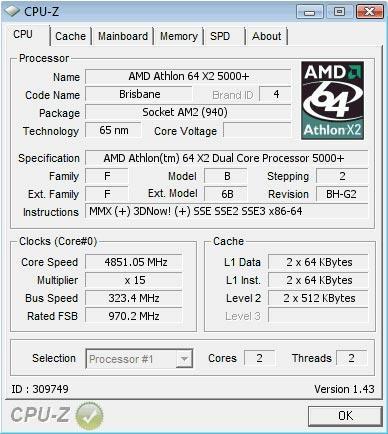 Het CPU-Z screenshot.