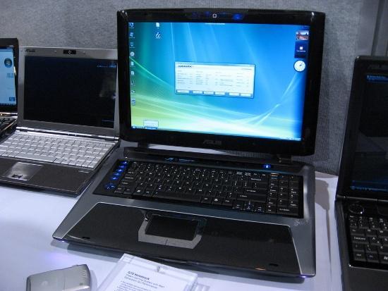 Asus G70 notebook met twee 8700M GT's en twee harddisks