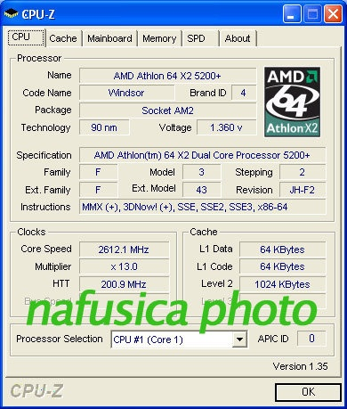 Athlon 64 5200+ CPU-Z