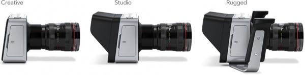Drie opstellingen van de camera