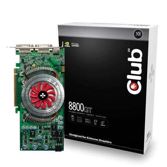 Club3D 8800GT met verpakking