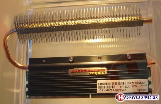 Apacer DDR3-1600 met heatpipe koeling