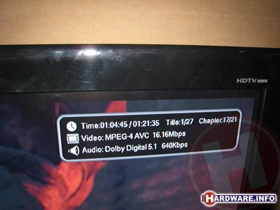 De gebruikte Blu-ray disc bevat 1080p H.264 video.